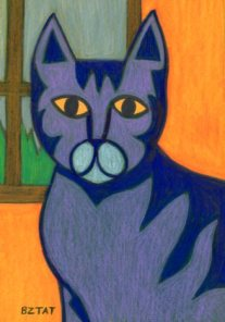 Blue-Gray-Striped-Tabby-Cat-Drawing-BZTAT