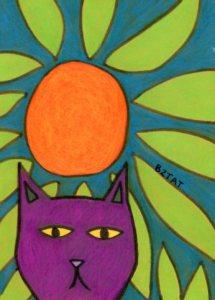 Purple-cat-drawing