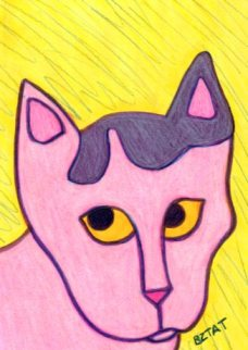 Drawing of cat Okey by BZTAT