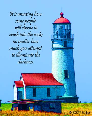 lighthouse art and quote by BZTAT