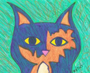 Tortoise shell cat drawing BZTAT