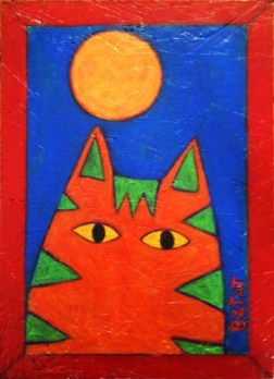 orange striped cat painting BZTAT