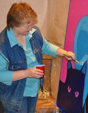 Artist BZTAT painting process