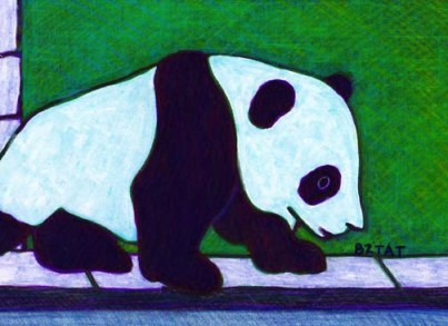 Drawing of Xiao Liwu Panda bear cub San Diego Zoo by BZTAT