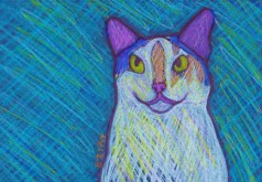 Calico Cat Custom Pet Portrait Painting by BZTAT