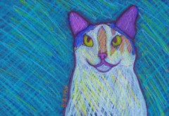 Calico Cat Custom Pet Portrait Drawing by BZTAT