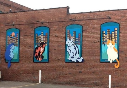 Downtown Cats Mural Public Art by BZTAT
