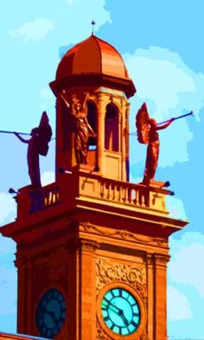 Stark County Courthouse Angels Canton OH Art by BZTAT