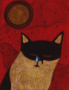 Sad Cat Drawing by BZTAT