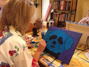 Pet Portrait Painting Workshop with Artist BZTAT