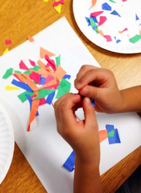 Arts-integration-preschool-paper-trees