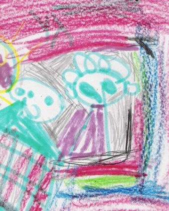 Child Drawing - Coloring outside the lines