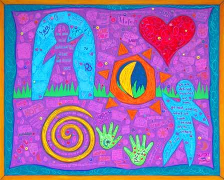 Alzheimers Collaborative Mural by Artist BZTAT
