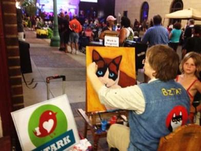Artist BZTAT Live Event Painting
