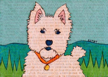 Westie (West Highland Terrier) Dog Drawing by Artist BZTAT