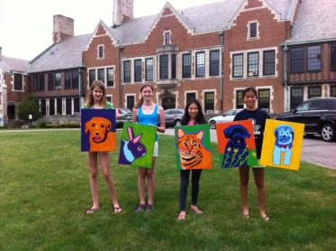 Hathaway Brown Middle School Pet Portrait Painting Class