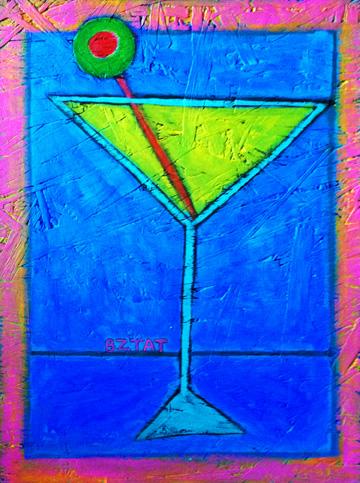 Martini Glass Painting #1