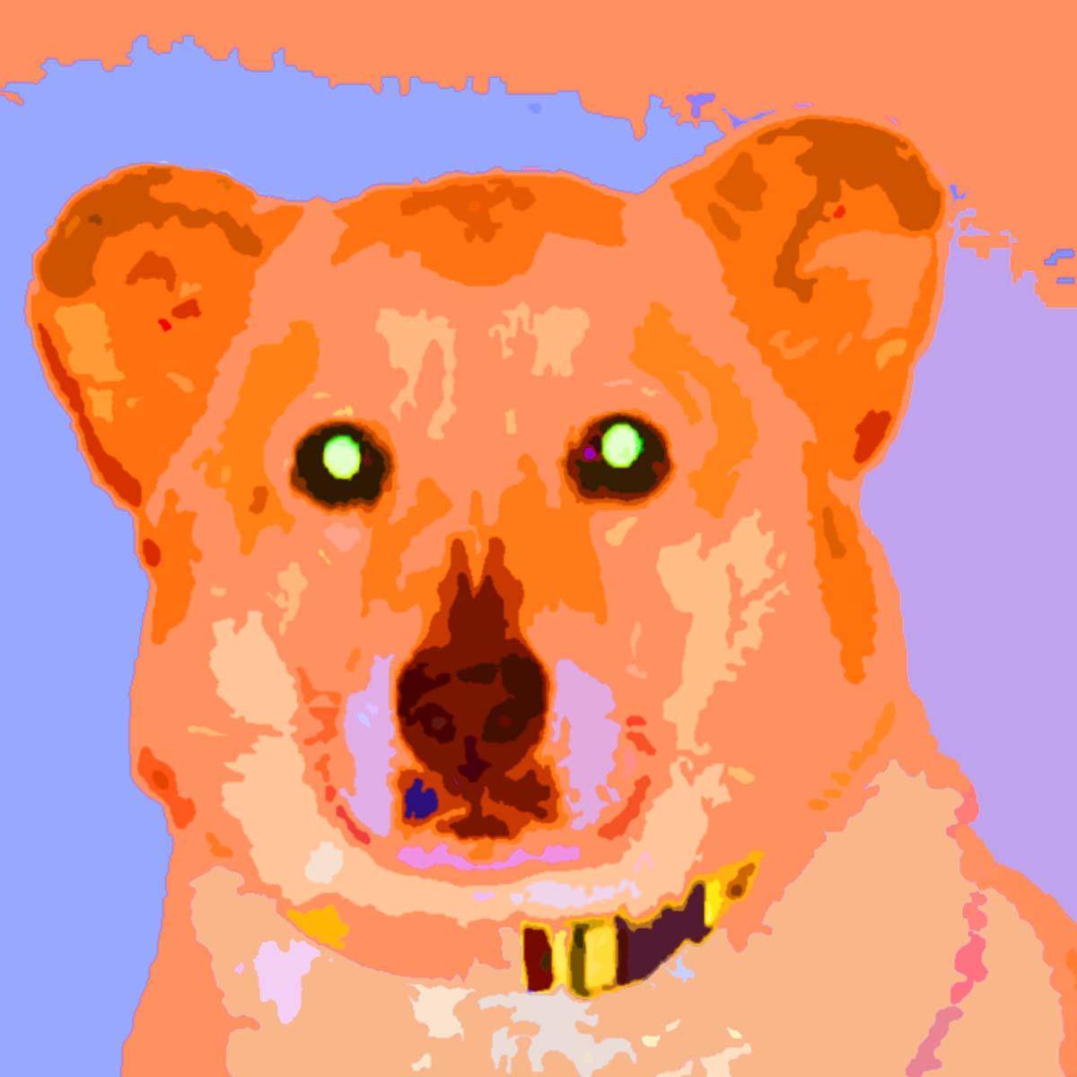 White Lab Dog Custom Digital Fine Art Pet Portrait by Animal Artist BZTAT
