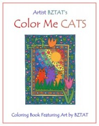 Artist BZTAT Color Me Cats Coloring book for adults