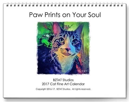 2017 Cat Fine Art Wall Calendar by BZTAT Studios