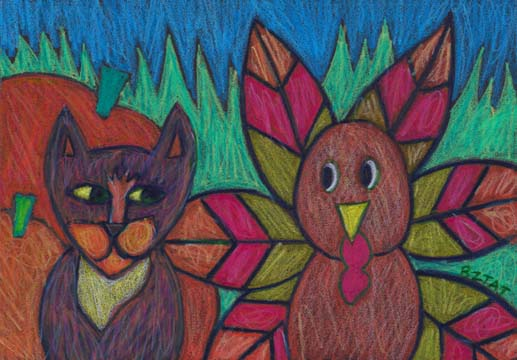 """""""Happy Thanksgiving!"""" Drawing by BZTAT"""
