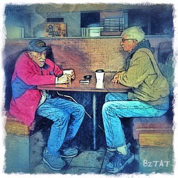 Random Conversations - Digital Art by BZTAT