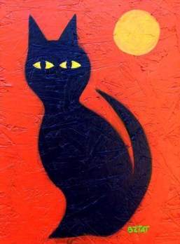 Paint Party with Artist BZTAT - Paint a black cat for Halloween