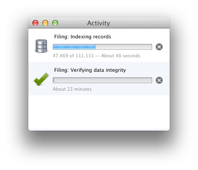 Verifying in the Activity Viewer
