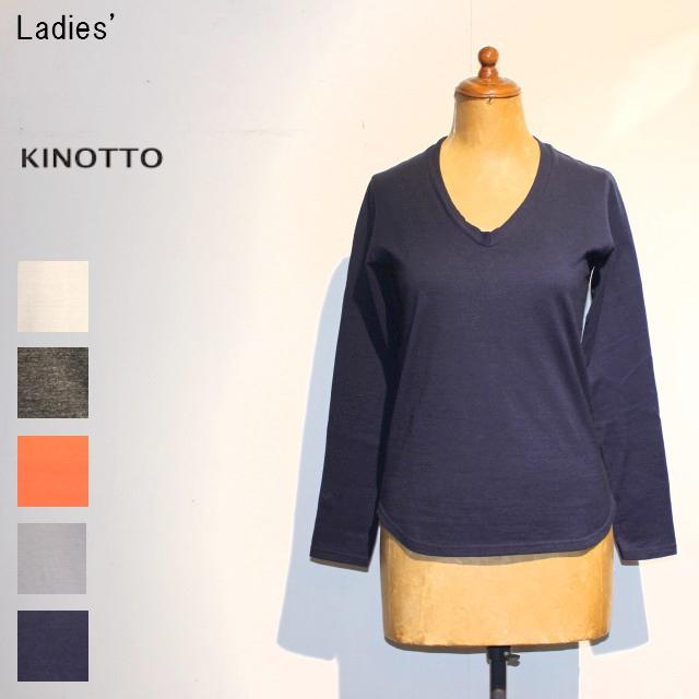 KINOTTO UネックTシャツ長袖 U-Neck T-Shirts 251C-01 (NAVY)