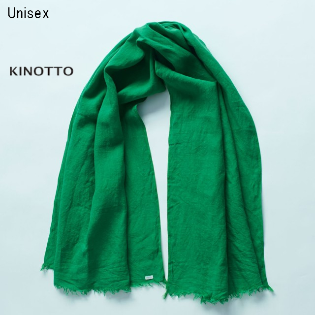 KINOTTO ガーゼストール Gaze Stole 251A-01 (GREEN)