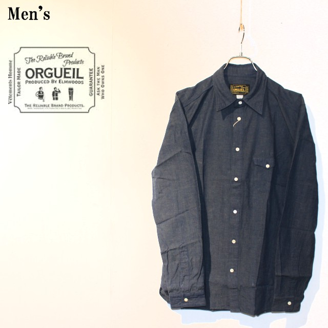 ORGUEIL クラシックシャンブレーシャツ Classic Chambray Shirt OR-5001C