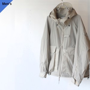 ENDS and MEANS クールマックスナイロンパーカ Fishing Jacket(Light Gray)