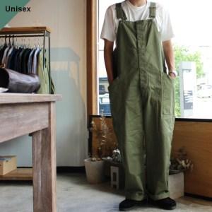 HARVESTY ハーベスティ CHINO CLOTH OVERALLS チノクロスオーバーオール グリーン A12008