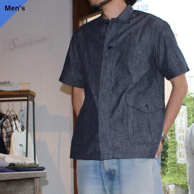 Soundman サウンドマン Austin カーゴポケットシャツ 275M-010P ダンガリー