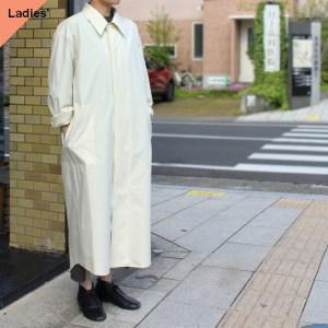 THE HINOKI コットンポプリンシャツワンピース Organic cotton poplin shirt dress TH21S-21 (White asparagus)