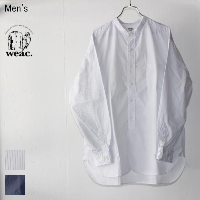 weac. GIZAコットンビッグシャツ BIGMAN (STRIPE)