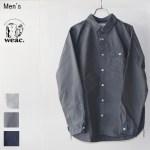 weac. GIZAコットンワークシャツ HENDER (GRAY)