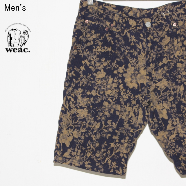 weac. 花柄ショーツ SUMMER 5 SHORTS (NAVY × BROWN)
