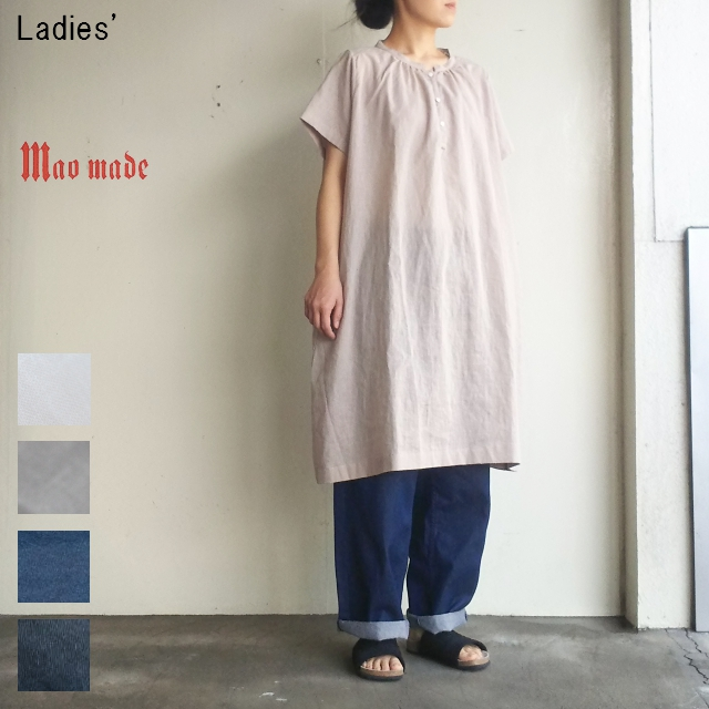 maomade コットンリネンワンピース Cotton Linen Onepiece 721309 (GRAYGE)
