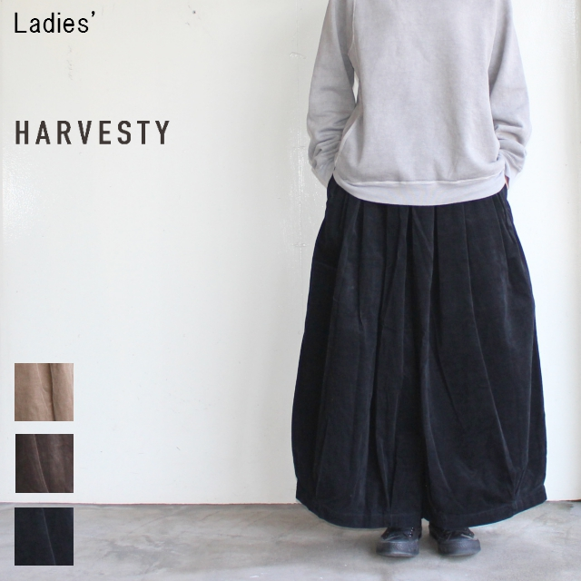 HARVESTY サーカスキュロット CORDUROY CIRCUS CULOTTES A21615 (BLACK)