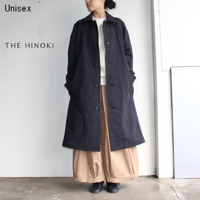 THE HINOKI バルマカーンコート Balmacaan Coat TH17W-17 (BLACK)