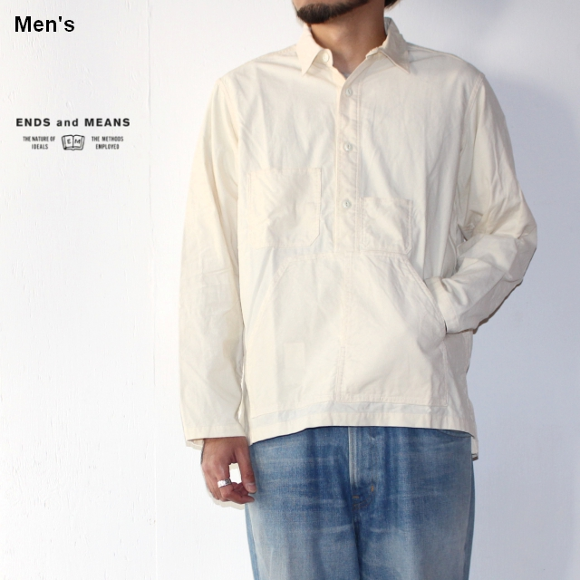 ENDS and MEANS コードユーティリティシャツ Cord Utility Shirts EM172S011 (IVORY)