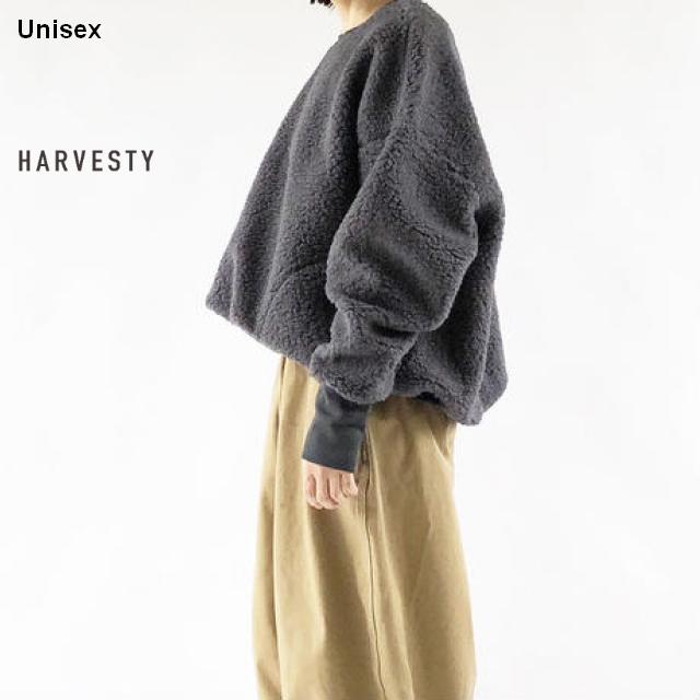 HARVESTY ボアフリースプルオーバー A51705 (CHARCOAL)
