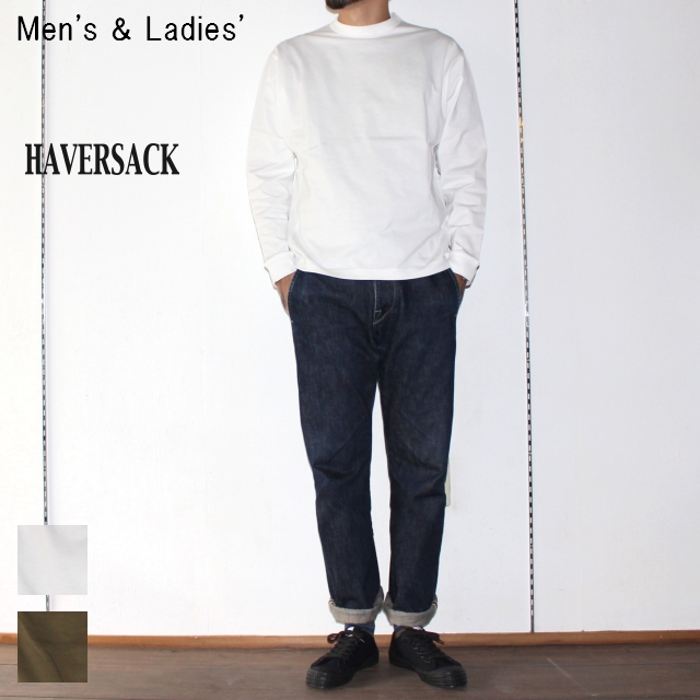 HAVERSACK 高密度コットンプルオーバーT Highdensity Cotton Pullover 411722 / 411720 (WHITE)
