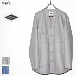 MOSODELIA ウールシャツカーディガン Collarless Shirts 17AW-S-002 (L.GRAY)