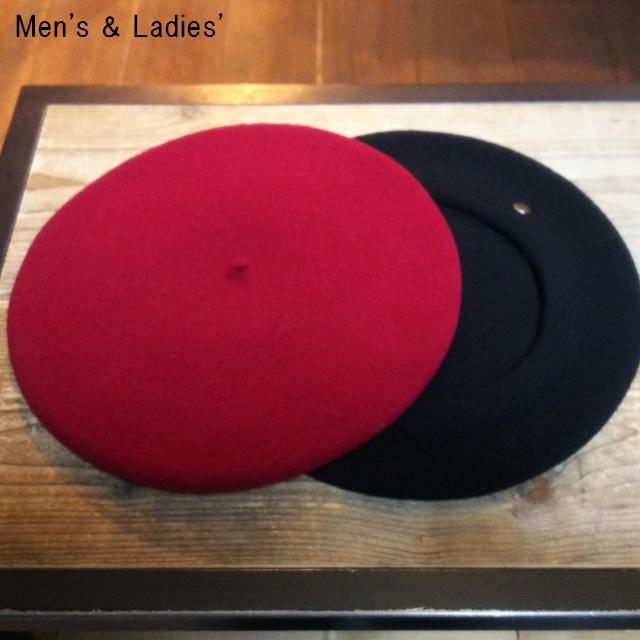 LAULHERE ウールベレー帽 PARIS10 (WINE , BLACK)