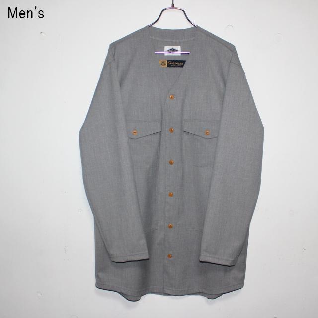 MOSODELIA Vネックシャツジャケット Laurent (GRAY)