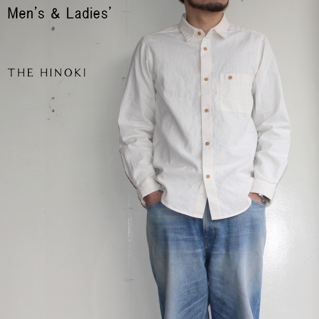 THE HINOKI ポケットワークシャツ Pocket Work Shirts (NATURAL)