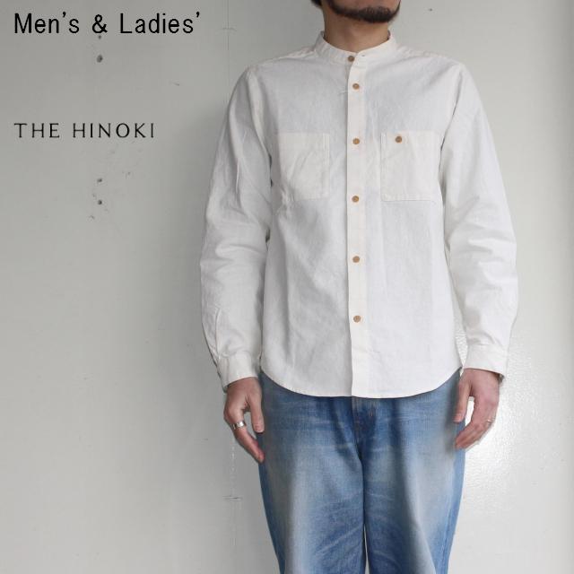 THE HINOKI バンドカラーワークシャツ Band Collar Work Shirts (NATURAL)