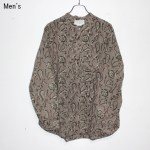 ENDS and MEANS バンドカラーシャツ Band Collar Shirts EM181S008 (PAISLEY)